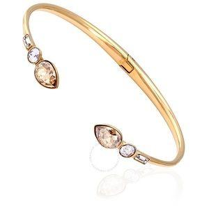 NWT Swarovski Crystal gold bangle bracelet